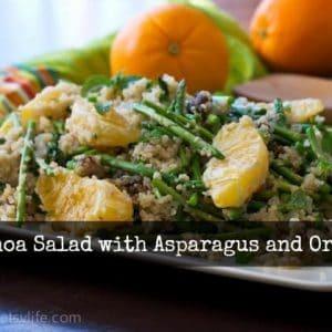 Quinoa Salad with Asparagus, Orange and Dates