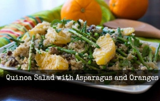 Quinoa Salad with Asparagus, Orange and Dates
