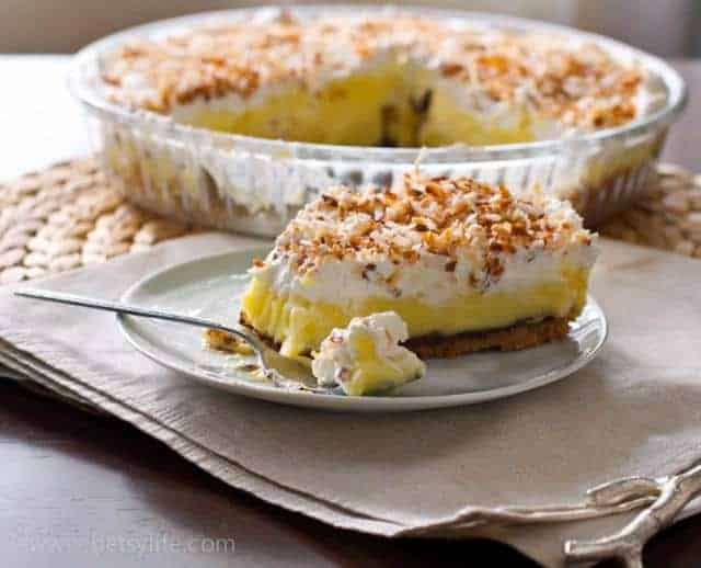 Coconut Cream Pie with a Shortbread Crust