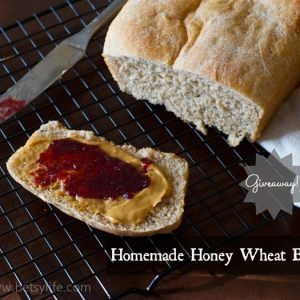 Easy Homemade Wheat Bread and a Giveaway!