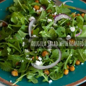 Arugula Salad with Roasted Chickpeas