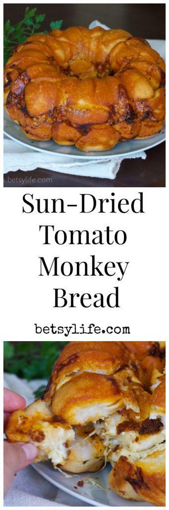 Cheesy and savory sun-dried tomato monkey bread