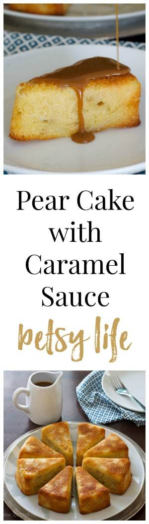 recipe: pear cake with caramel sauce [35]