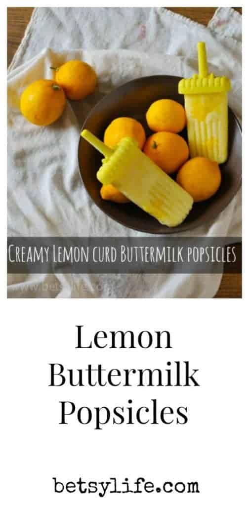 Creamy Lemon Curd Buttermilk Popsicles