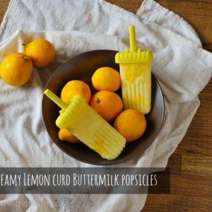 Creamy Lemon Curd Buttermilk Popsicles