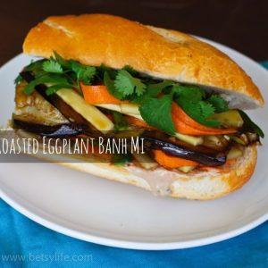 Roasted Eggplant Bánh mì