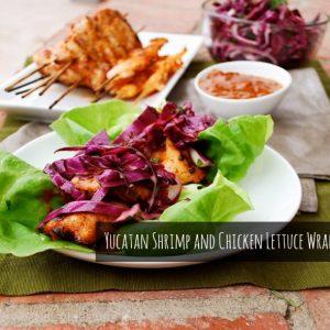 SRC: Yucatan Chicken and Shrimp Skewers