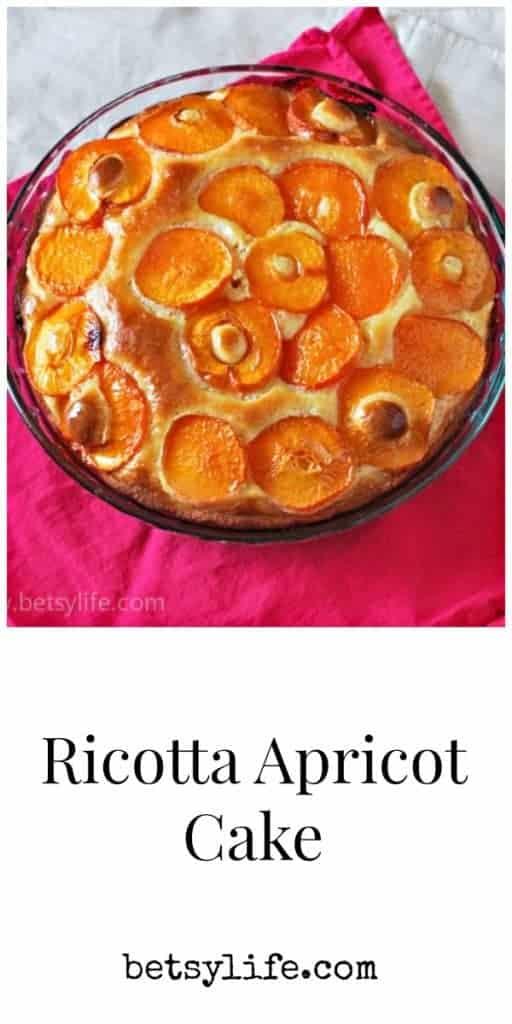 Ricotta Apricot Cake Recipe