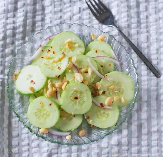 Spicy Cucumber and Peanut Salad Recipe