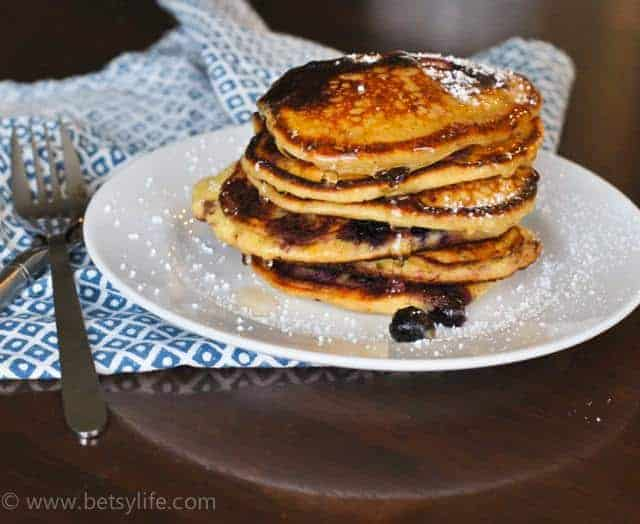 Lemon Ricotta Blueberry Pancake Recipe