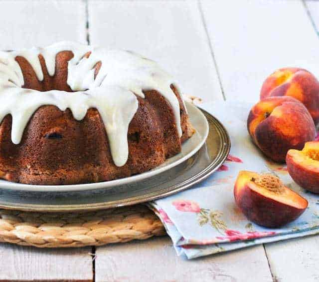 Peaches and Cream Bundt Cake