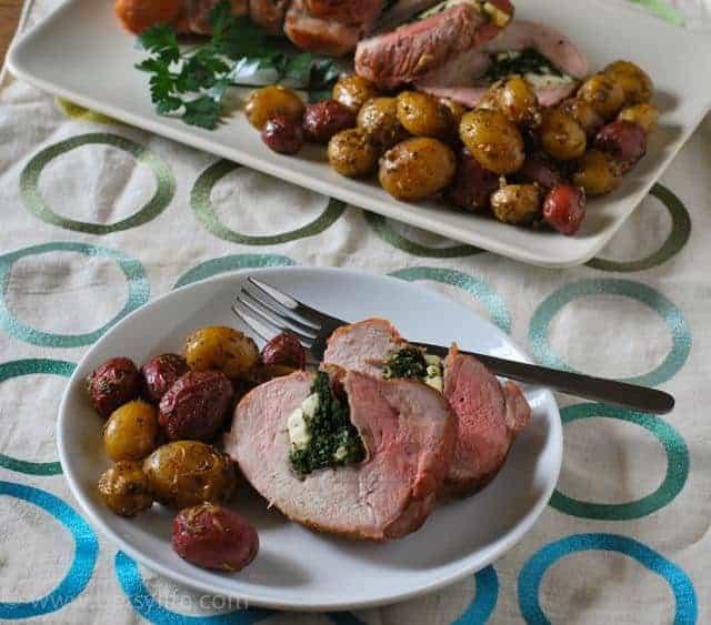 prosciutto-spinach-stuffed-pork-loin-recipe-serving