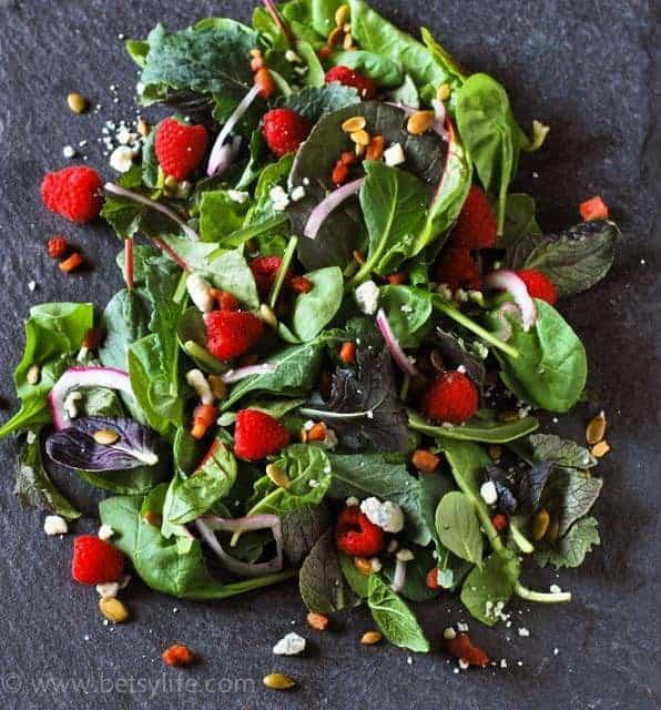 raspberry-blue-cheese-salad-recipe