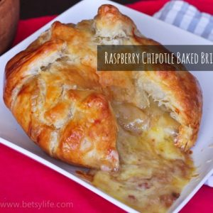 Raspberry Chipotle Baked Brie