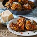meatless lentil meatballs