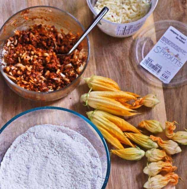 chorizo-stuffed-squash-blossoms-ingredients
