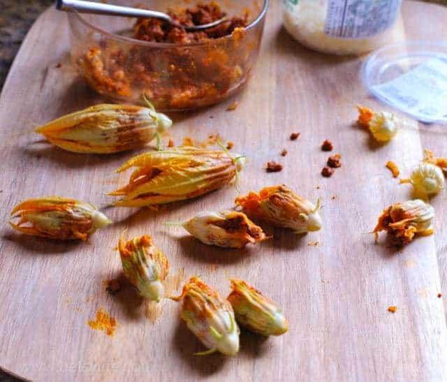 chorizo-stuffed-squash-blossoms-prep