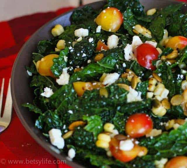 how-to-massage-kale-massaged-kale-salad-serving