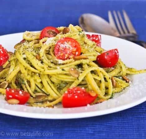 pepita-mint-pesto-pasta-tomato-recipe-serving