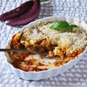 Eggplant Parmesan For One