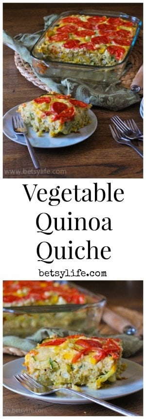 Vegetable and Quinoa Quiche