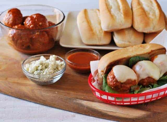 buffalo-chicken-meatball-sub-sandwich-recipe-prep