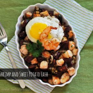 Shrimp and Sweet Potato Hash