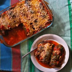 """Gluten Free, Low-Carb Rainbow Chard """"Cannelloni"""""""