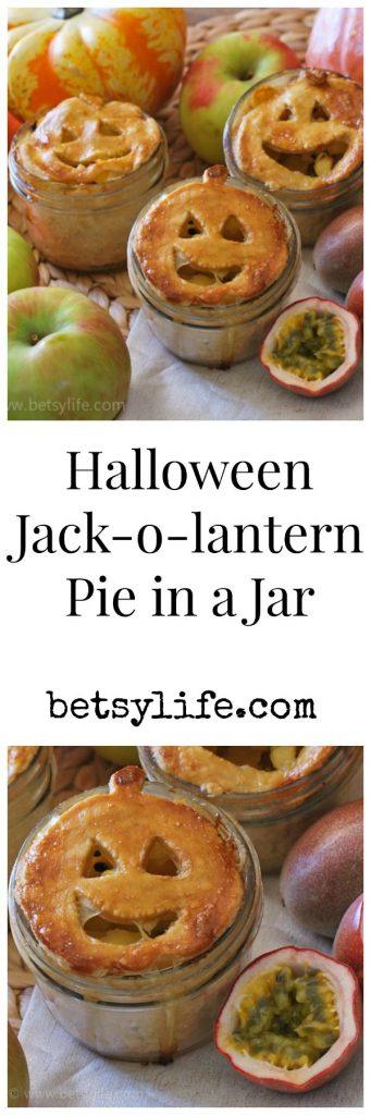 Halloween Jack-o-lantern Pie in a Jar