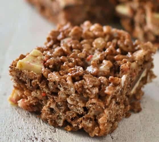 Chocolate Peppermint Bark Rice Krispie Treats