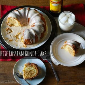 White Russian Kahlua Cake