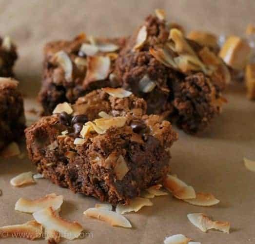 Caramel Coconut Brownies