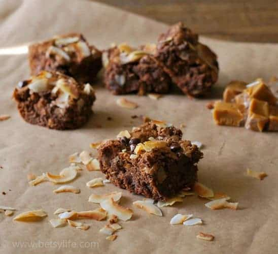 Caramel Coconut Brownies {KitchenAid, Keurig & Kindle Paperwhite ...