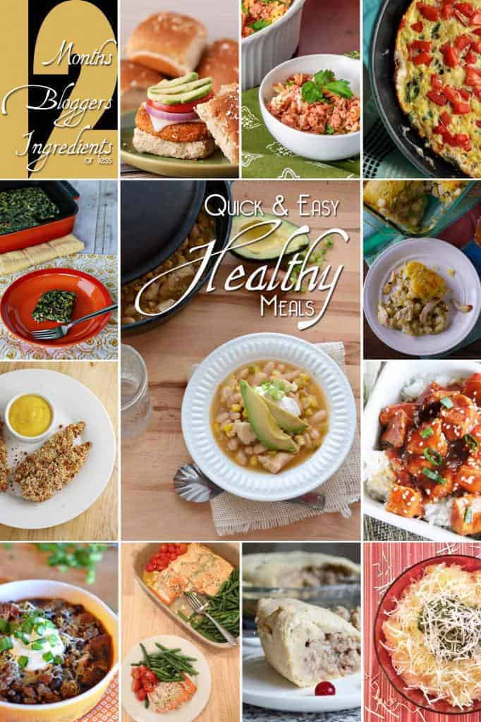 12 healthy meals collage