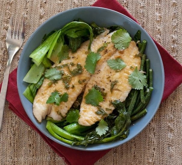 Green Curry Fish with Chinese Vegetables | Betsylife.com