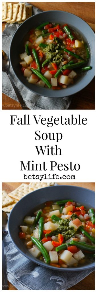 Fall Vegetable Stew with Mint Pesto | Betsylife.com