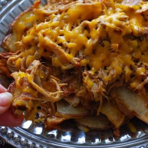 Pulled Pork Irish Nachos
