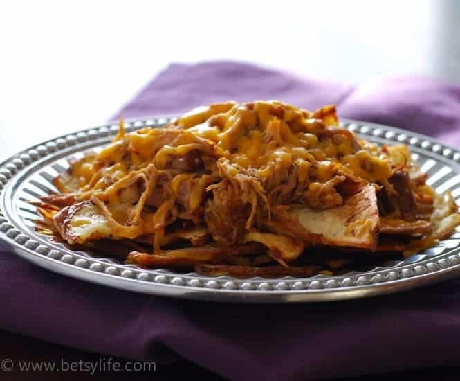 Pulled Pork Irish Nachos | Betsylife.com