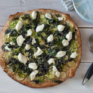 Brussels Sprout and Potato Pizza