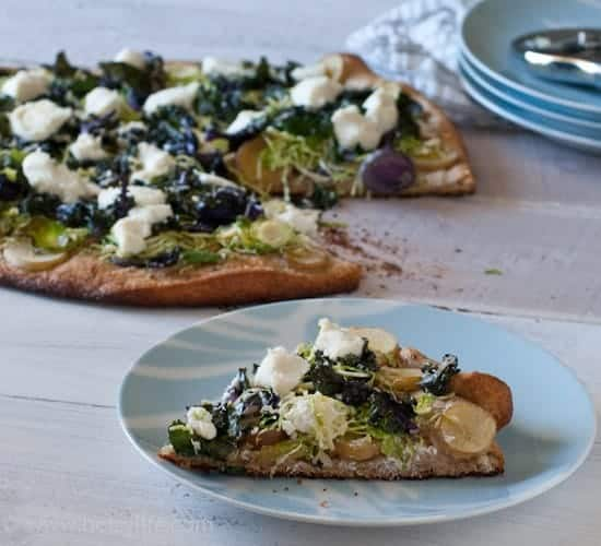 Brussels Sprout and Potato Pizza | Betsylife.com