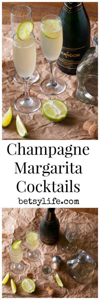 Champagne Margarita Cocktails   Betsylife.com