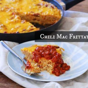 Leftover Chili Mac Frittata
