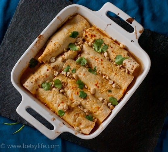 Curry Chicken Enchiladas | betsylife.com