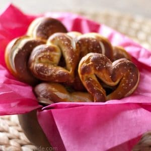 Heart Shaped Homemade Pretzels
