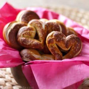 Heart Shaped Homemade Pretzels