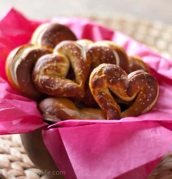 Heart Shaped Pretzels | Betsylife.com
