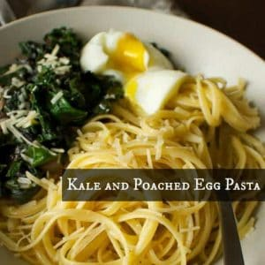 Healthy Poached Egg Pasta