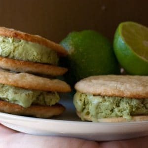 Lime Basil Ice Cream Sandwiches