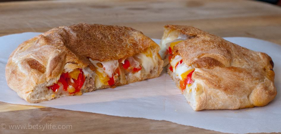 Sausage and Pepper Calzone