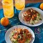 Chili Tangerine Shrimp Tostadas